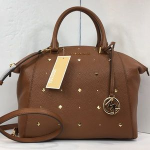 Michael kors Riley medium studded satchel Bag $348